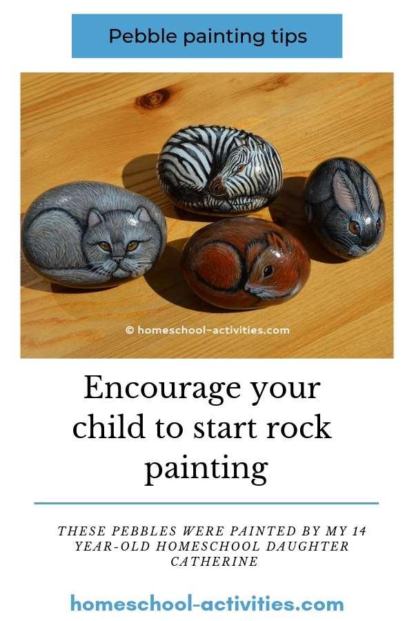 rock painting pebbles