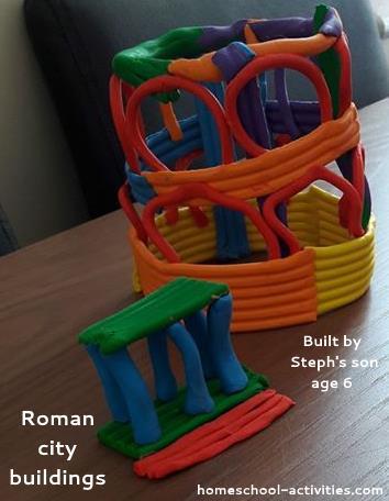 Roman city buildings model