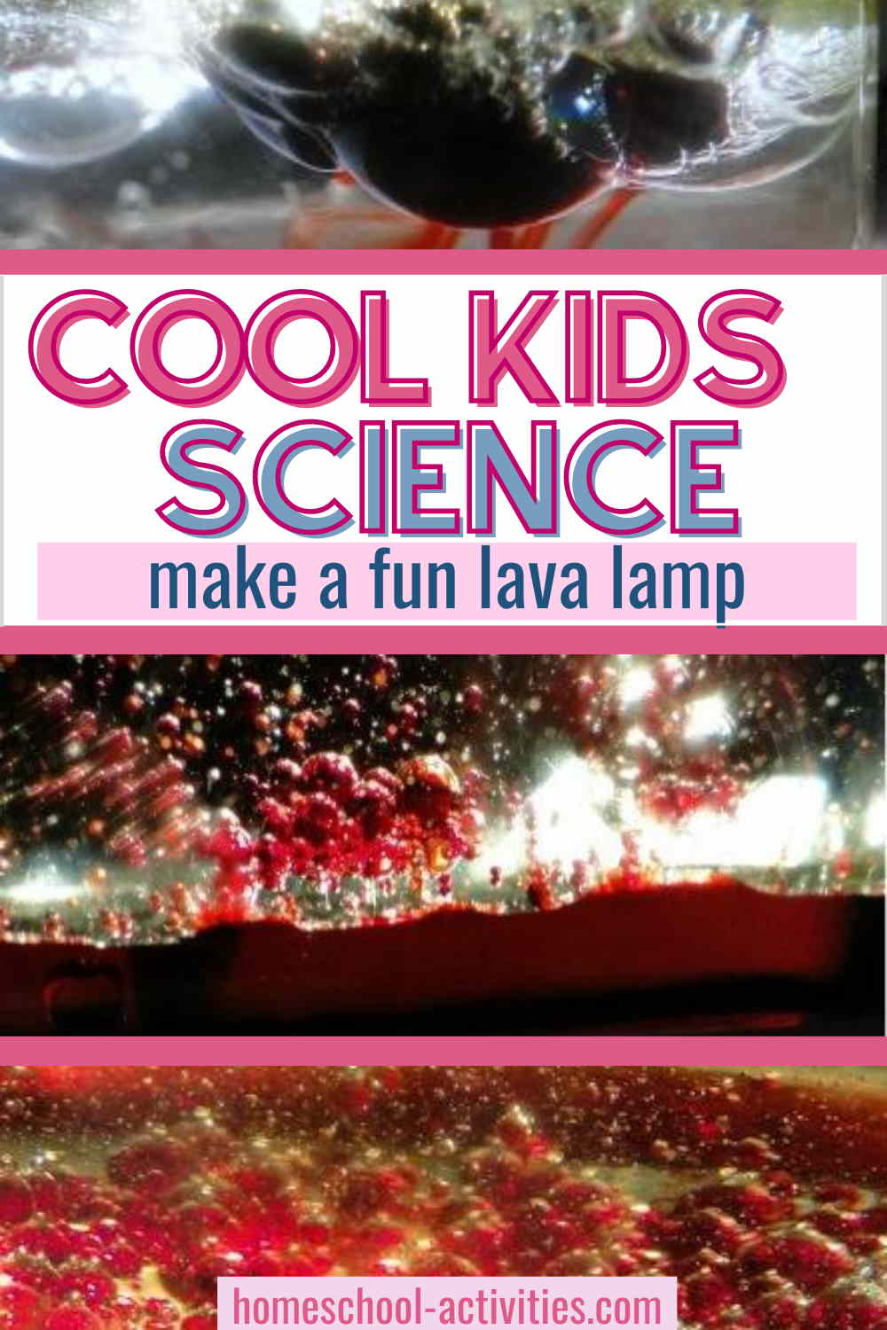 Easy kids science experiment to make a diy lava lamp