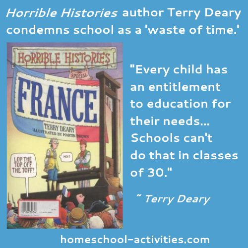 Terry Deary quote about schools not working
