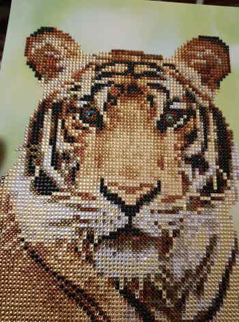 Tiger crystal art set