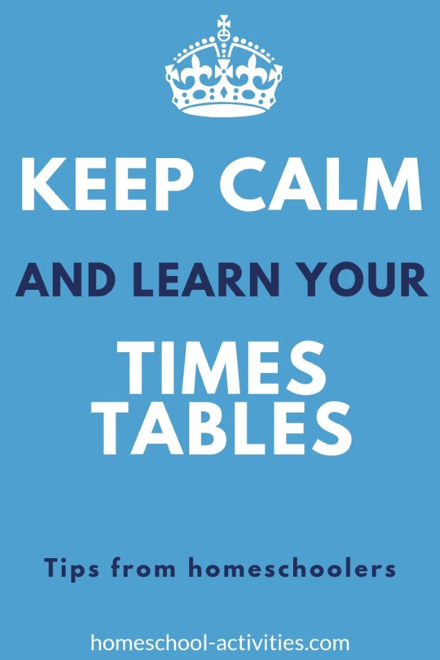 keep calm and learn your times tables