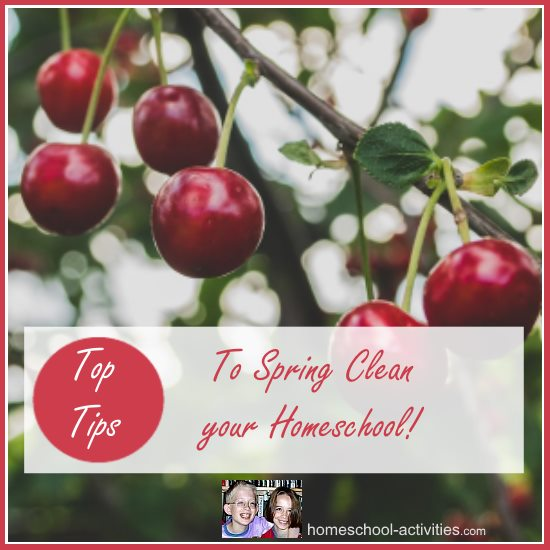 top tips to Spring Clean your homeschool