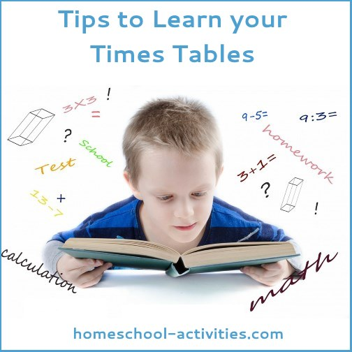 tips to help learn your times tables