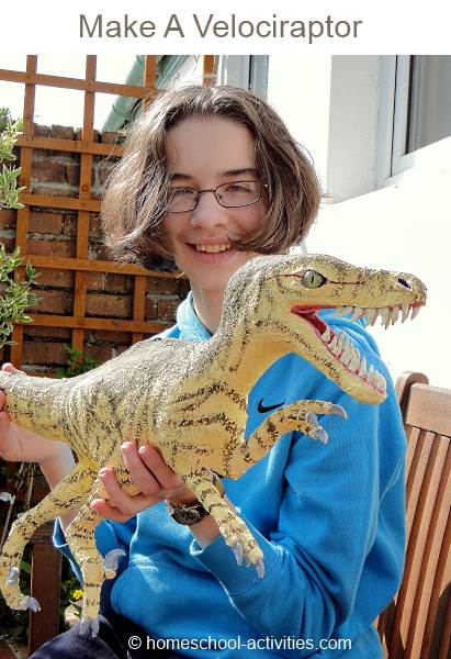 velociraptor model with Catherine