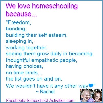 Rachel's reason for loving homeschooling