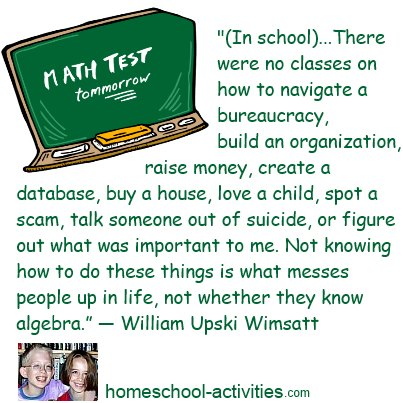 William Wimsatt quote about what school can never teach